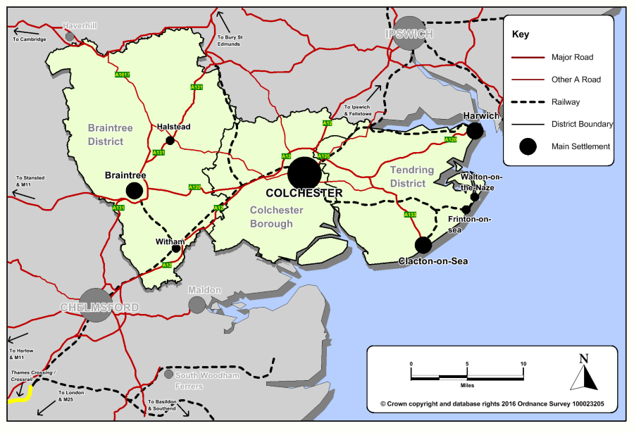 Map 2: Districts with principal towns and road & rail network